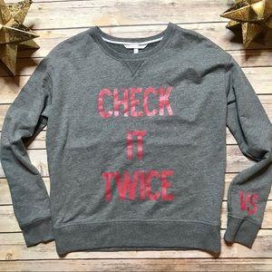 Victoria Secret's Pink Pullover Sweatshirt Holiday